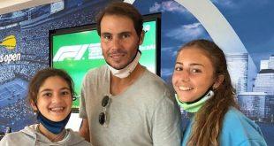 Rafael Nadal s nádejnými talianskymi tenistkami